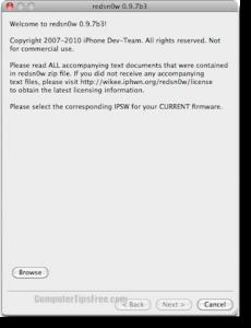 Download Redsn0w 0.9.7b3 redsnow