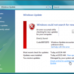Fix: 80072efd Windows Update Error Code - Windows 7 and Vista