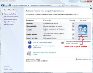 How to Change increase Windows Experience Index Rating in Windows 7 or Vista 1