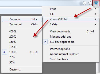 How to Increase or Change Font Size in Internet Explorer 9