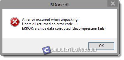 ISDone.dll ISArcExtract Unarc.dll Error Download Fix not found installing 1 7 14