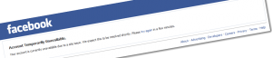 Why is my Account Temporarily Unavailable on Facebook - Solution