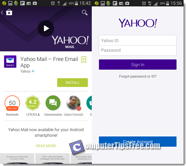 Yahoo mail login mobile sign in