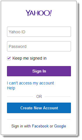 Yahoo sign in page yahoo login page