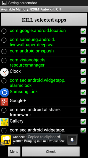 advanced task killer android phone slow down kill app