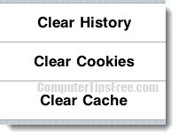 clear cache ipad