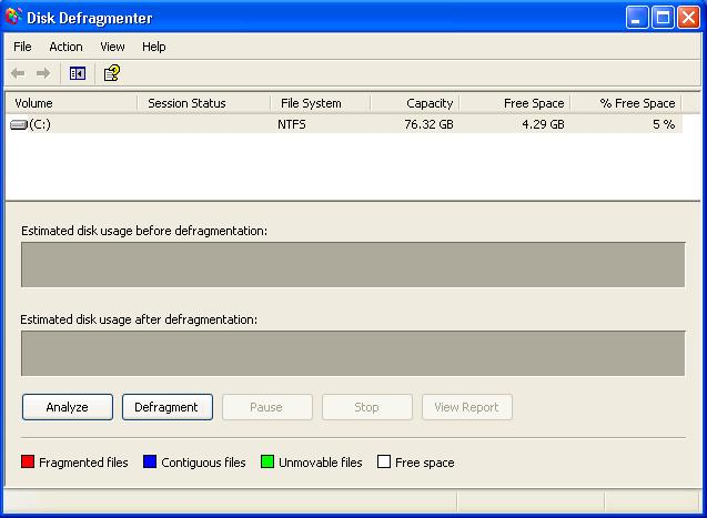 disk-defragmenter-xp-not-yet-analyze