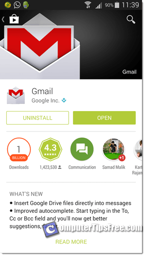 download Gmail App for Android play store