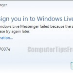 error code windows live messenger 8007007e