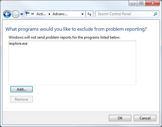 Stopped Working How to Disable Windows Error Reporting