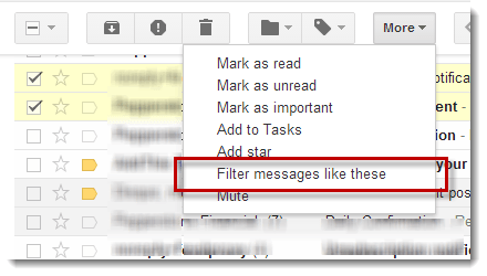 gmail auto delete spam filter messages like these