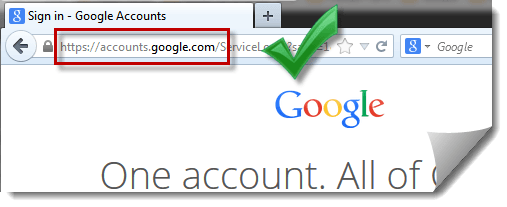 gmail login page correct url