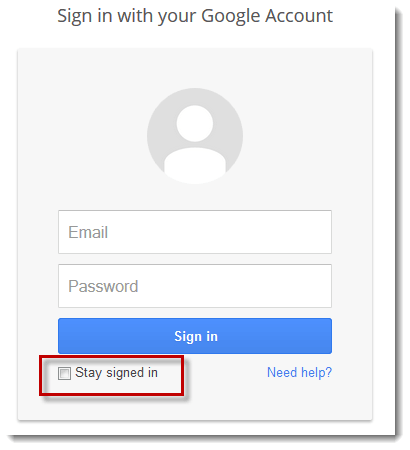 Screenshot from Gmail login page