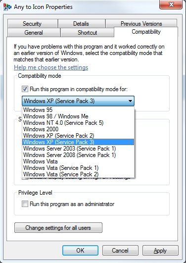 Compatibility Mode Windows 8/7/8.1/XP Run Programs in Previous version Windows