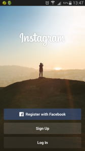 instagram sign up with facebook