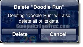 ipad delete app