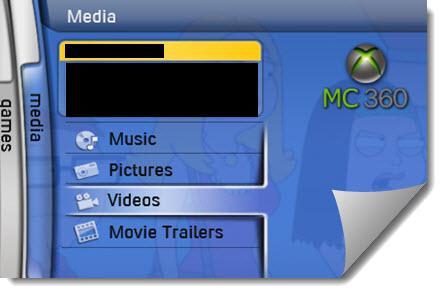 xbox media tab