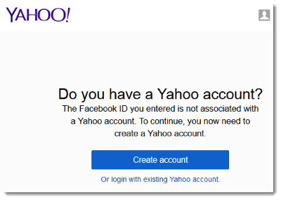 yahoo sign in with facebook login